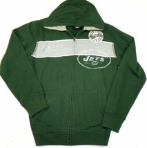 Small Men's New York Jets Hoodie NFL Year EST. Full Zip Hooded Sweatshirt G-III