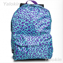 NEW Purple Cheetah Lightweight Compact Size Fashion Backpack Shoulder Bo... - $23.99