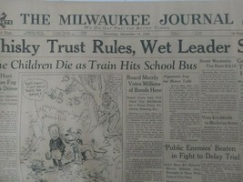 Masonic knights templar Milwaukee journal 1933 Newspaper prohibition ends - $27.69