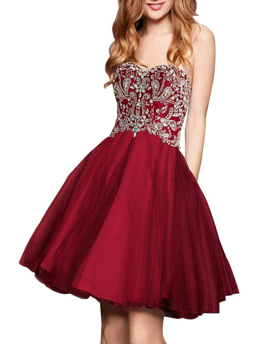 Primary image for Women's Beaded Homecoming Gown Sweethart Short Formal Party Gowns Prom Dresses