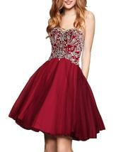Women's Beaded Homecoming Gown Sweethart Short Formal Party Gowns Prom D... - $145.99