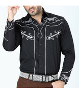 Cowboy Shirt Camisa Vaquera Western Wear El Señor de los Cielos Black - €41,13 EUR