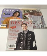 3 Issues of Designs in Machine Embroidery Magazine 2004 - $14.50