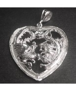 New Large Handcrafted 925 Silver Chinese Double Happiness for Wedding Dr... - $46.88