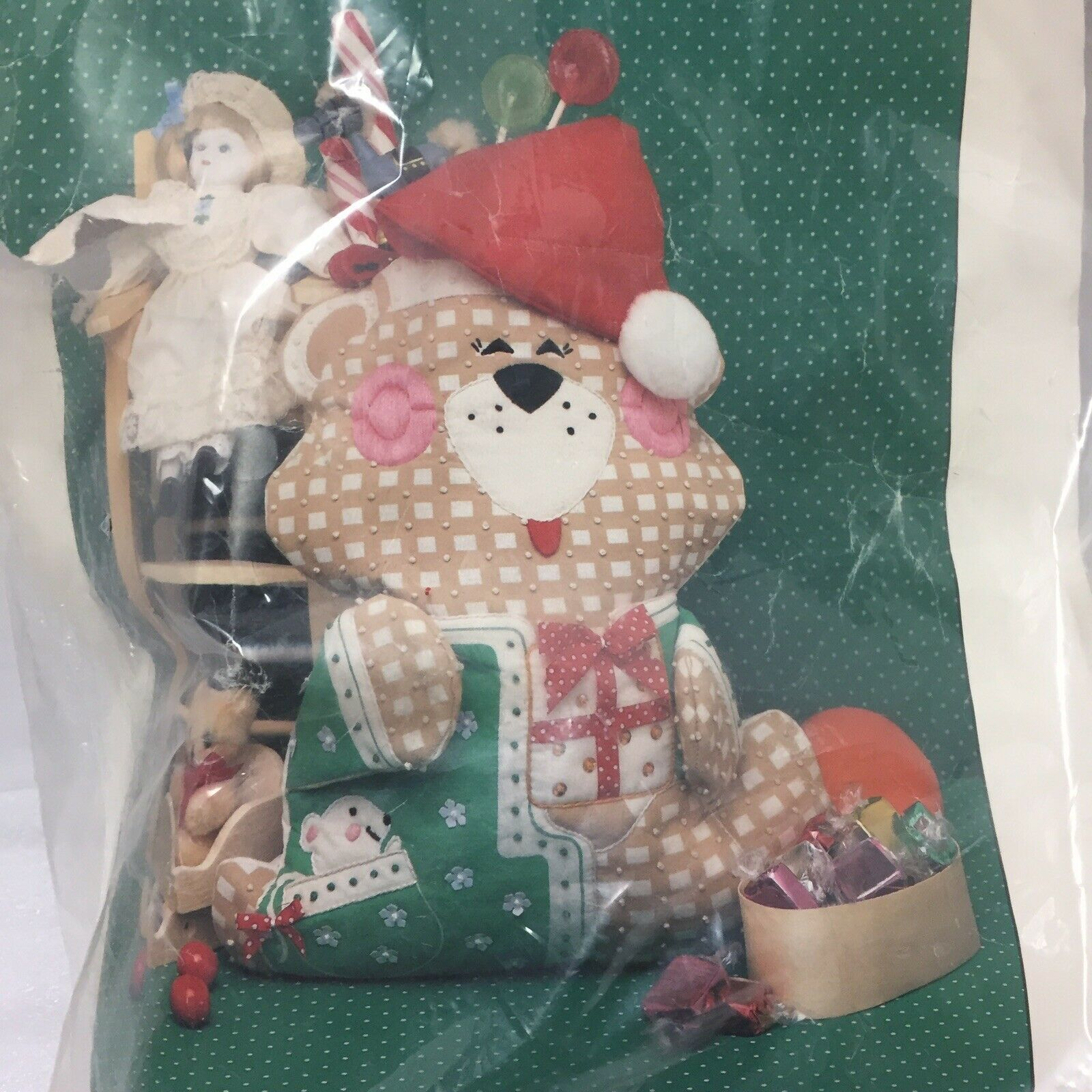 Daydreams Designed By Dick Martin Teddy Stocking Embroidery Kit 825 Old Stock - $14.01