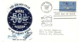 August 20, 1961 First Day of Issue, Fleetwood Cover, Naval Aviation Anni... - $1.09