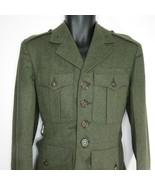 Vintage 1950s USMC US Marine Corp Green Wool Kersey Coat Jacket Size 40 - $69.27