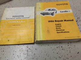 1986 TOYOTA COROLLA FF Service Repair Shop Workshop Manual OEM Set W ETM... - $49.45