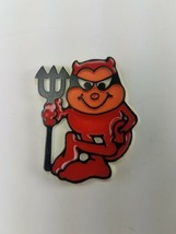 1981 Hallmark Holiday Halloween Pin Red Devil with Pitchfork Black - $9.65