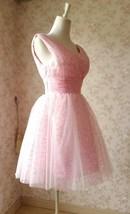 Cute Pink V-neck Short Princess Dress Sleeveless Pink Tutu Birthday Party Dress image 3