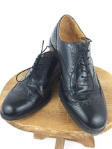 Cole Haan Oxford 8 B D Wing Tip Dress Shoes Black Leather Formal Lace Up... - $39.59