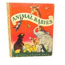 Animal Babies A Little Golden Book Vintage 1947 39 B Edition Jackson Chi... - $18.72