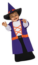 Witch Baby Bunting Halloween Costume Size 0-9 Months - $19.00