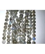 8.5 - 9mm Labradorite Coin Beads 45 +/- Per Strand - $14.26