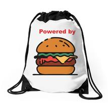 Powered By Burger Drawstring Bags - $31.00