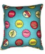 Soda Caps Pillow Handmade In USA Pop Tops, Soda Pop Caps Pillow Fizz - $9.99