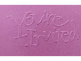 Sizzix You're Invited Metal Embossing Plate #38-9675 image 2