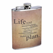 Life Sublime Plan Em1 Flask 8oz Stainless Steel Hip Drinking Whiskey - $13.81