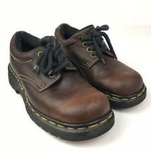 Dr Martens Oxford Shoes #9369 Brown Leather Lace-up Mens US 5 - $27.99