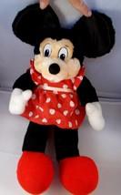"Minnie Mouse Plush Doll 16"" Satin Ears Vintage Stuffed Animal toy - $9.95"