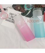 KPOP SEVENTEEN 17 Water Cup AI1 Gradient Glass Bottle Frosted Drink WONW... - $10.59