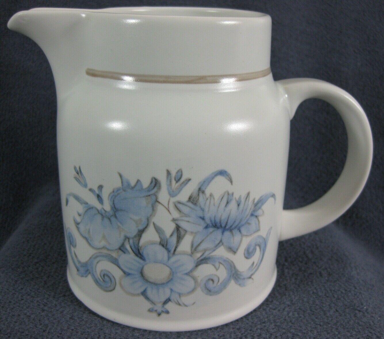 Royal Doulton Inspiration LS1016 Creamer Pitcher Lambethware England Blue Floral
