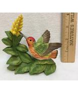 Allens Hummingbird with Aphelandra Flower Figurine Porcelain Bronson Figure - $14.84