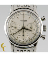 Tissot Chronograph MVMT 1281 Vintage Stainless Steel Men's Watch with Su... - $2,999.70