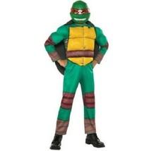 Boys Teenage Mutant Ninja Turtles Raphael 3 Piece Deluxe Costume M 8-10 New  - $19.79