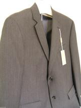 NWT Michael Kors Suit Coat Gray Pinstriped Men's Wool Handsome Jacket 41... - $168.00