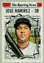 2019 Topps Heritage #355 Jose Ramirez Cleveland Sporting News All Star! NM  - $2.20