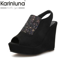 shoes KARINLUNA style toe 33 rome popu 43 hot sale peep party platform big size xxq7RwAB