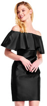Adrianna Papell New Womens Black Off The Shoulder Mikado Shift Dress    12 - $143.55