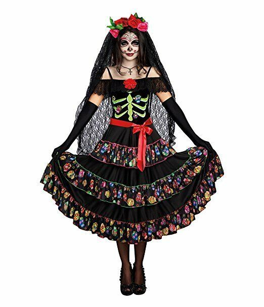 Dreamgirl Lady Of The Dead Dia De Los Muertos Womens Halloween Costume 10680