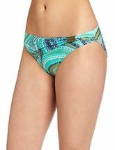 Jantzen Bikini Bottom Sz 6 Green Multi Color Shaping Meets Comfort Swimw... - $16.44