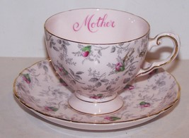 STUNNING VINTAGE TUSCAN FINE ENGLISH BONE CHINA MOTHER ROSEBUD TEA CUP &... - $33.65