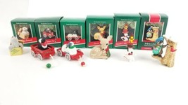 (Lot of 6) 1989 Hallmark Christmas Ornaments Snoopy Hand Crafted Mail Ca... - $48.51