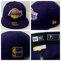 Los Angeles LA Lakers New Era 59 Fifty Hardwood Classics Fitted Hat Size... - $23.75