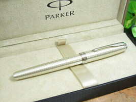 The Real Thing Parka Parker Sonnet Original Fountain Pen Precious Sterling - $458.99