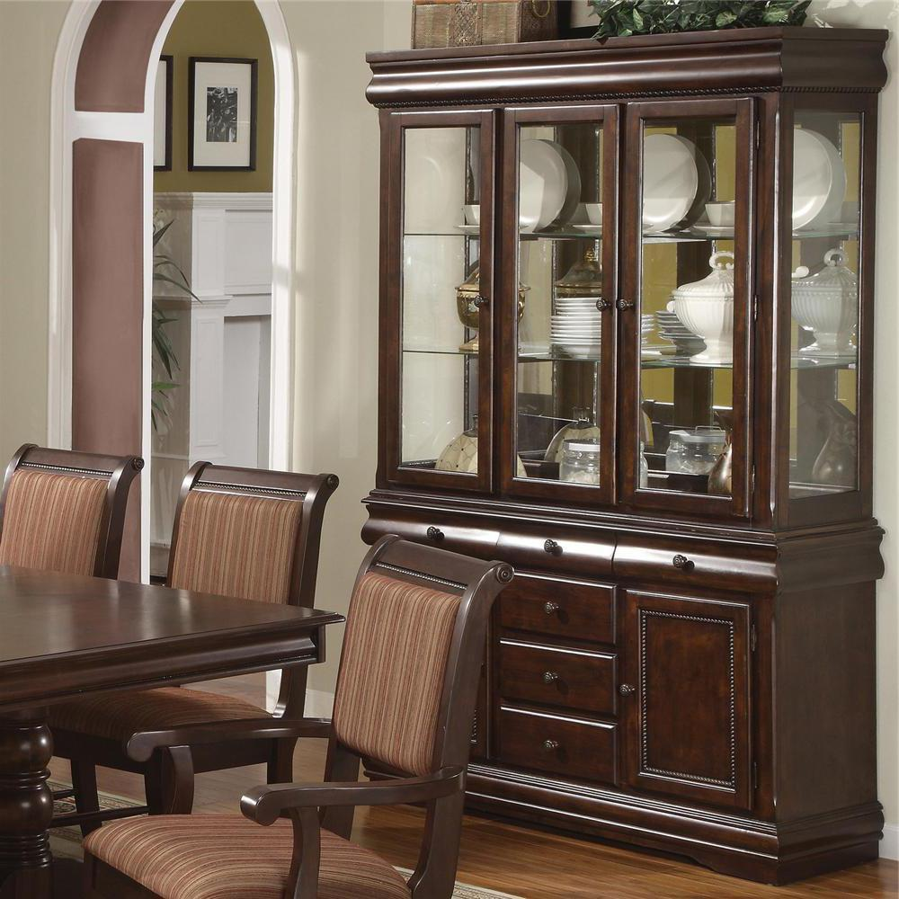 Dining Room Buffet Hutch: Merlot 9 Piece Formal Dining Room Set W/ 4 Side 2 Arm