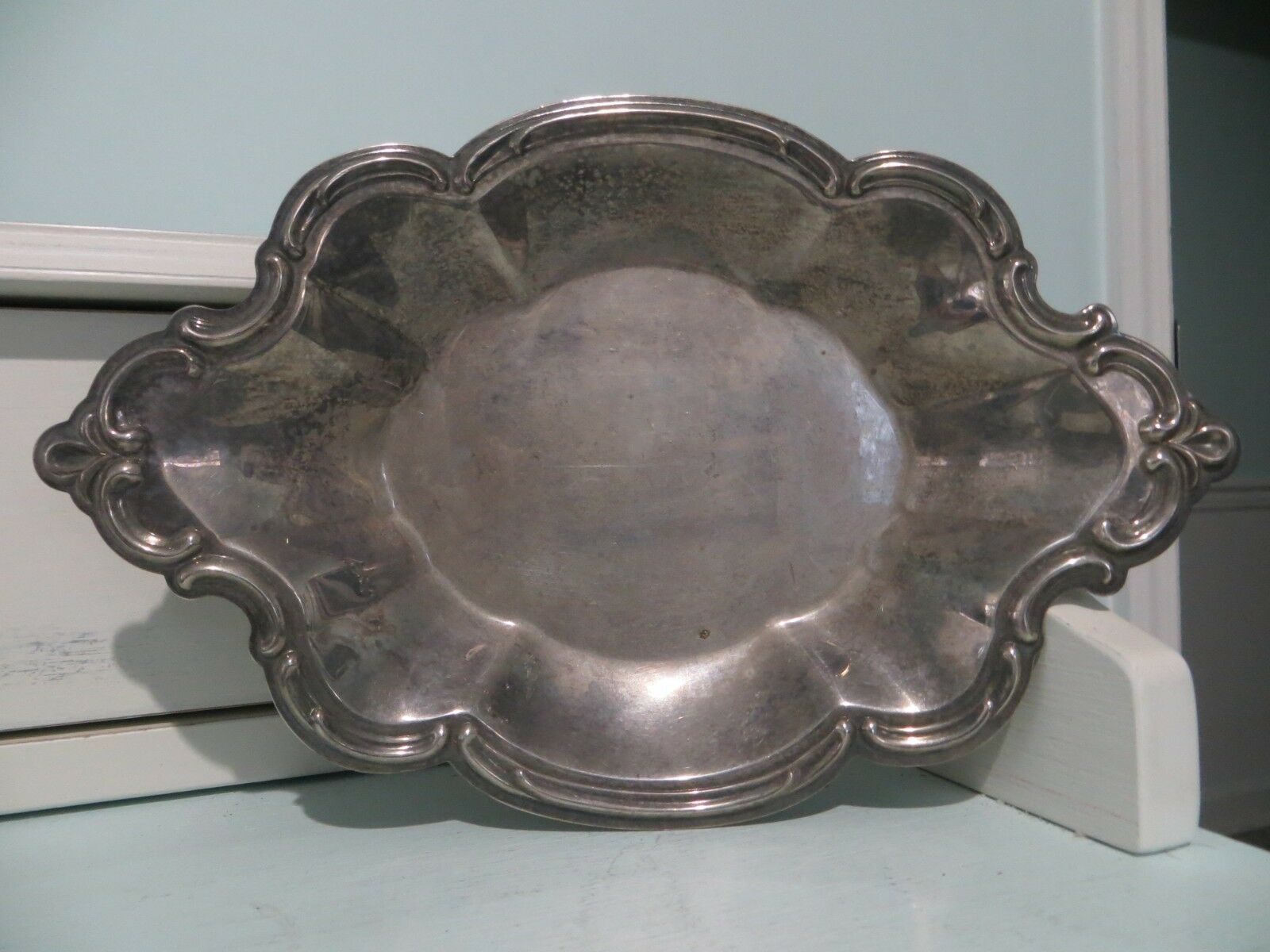Vintage small silver nut/candy dish made by The International Silver Company