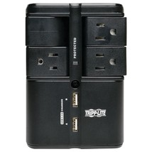 Tripp Lite SK40RUSBB 4-Outlet Rotatable Surge Protector with 2 USB Ports - $50.88