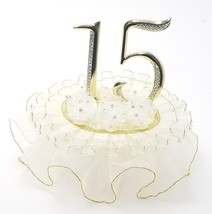 "Sweet 15 Mis Quince cake top silver or gold ornament 7"" tall - $29.95"