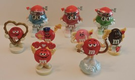 LOT OF 9 VINTAGE M&M VALENTINE TOPPERS & M&M MINIs VALENTINE CANDY HOLDERS - $8.00