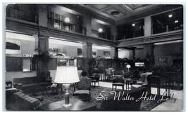 1952 Sir Walter Raleigh Hotel Lobby, Raleigh, NC Postcard - $5.48