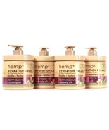 4 Count Hemp Plus 16.9 Oz Hemp Seed & Rose Hip Oil Soothe Hydration Cream - $37.99