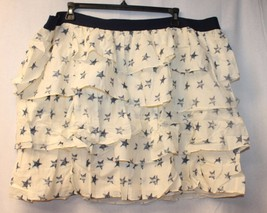 NEW LANE BRYANT WOMENS PLUS SIZE 26W 28W STAMPED STARS STAR FLUFFY TIERE... - $21.28
