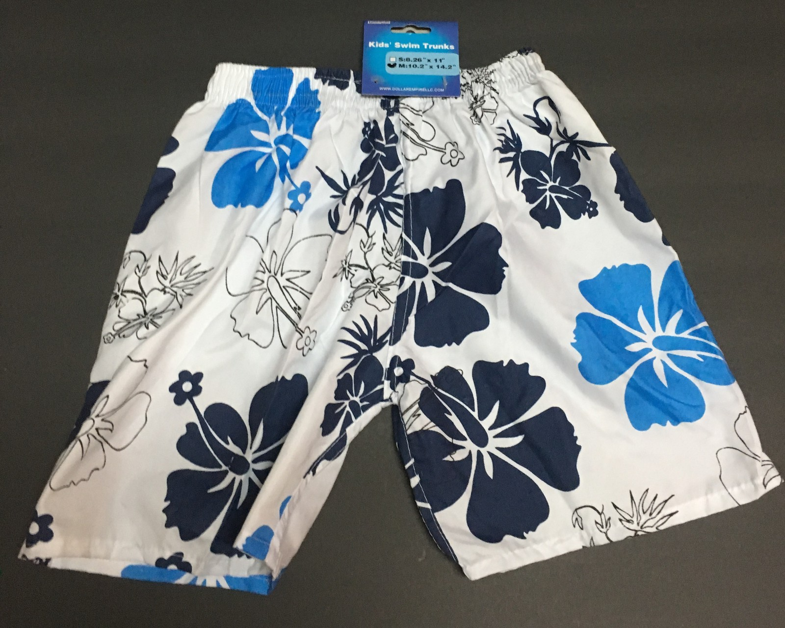 5d276a8773 Boy's Swim Shorts Trunks Blue & White Floral and 50 similar items