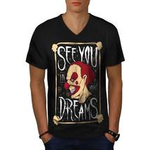 Clown Dream Scary Horror Shirt  Men V-Neck T-shirt - $12.99+