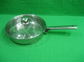 Vintage Stainless Steel Skillet Fry Pan 10 Inches with Lid Made in India - $25.19